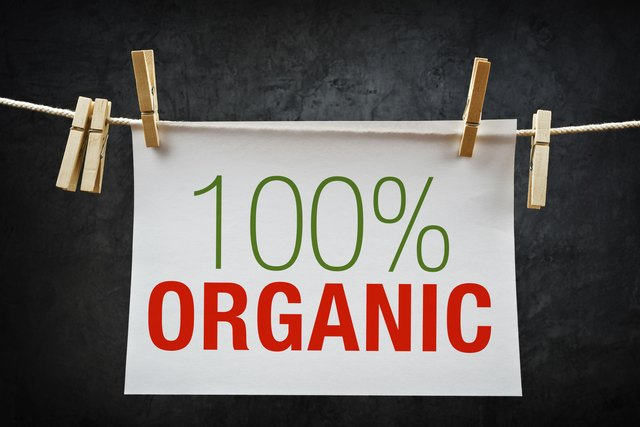 Organic sign on clothespin