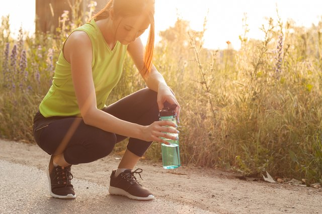 Hydrate before and during your run.