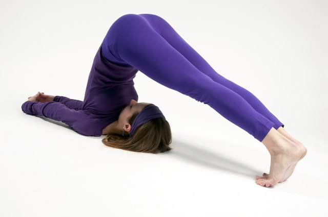 Plow pose can help relieve a blockage of the throat chakra.