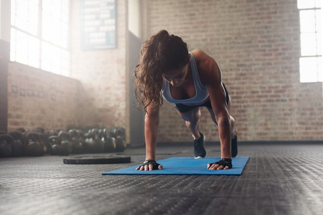 Push-ups can help you prepare your core and shoulders for more advanced variations.