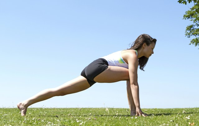 Dynamic stretches can help loosen up leg muscles when you're preparing for a run.