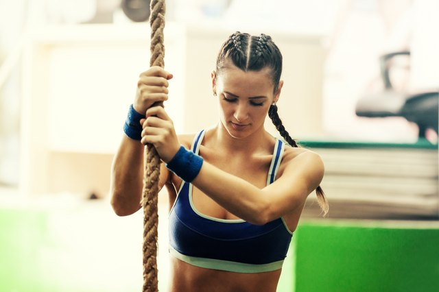 Rope climbs develop comprehensive strength.
