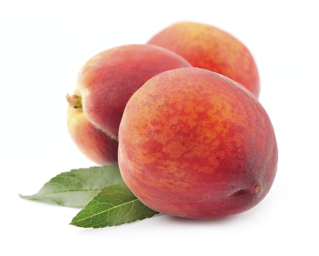 Whole peaches.
