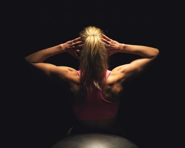 Strong back muscles help correct a rounded posture.