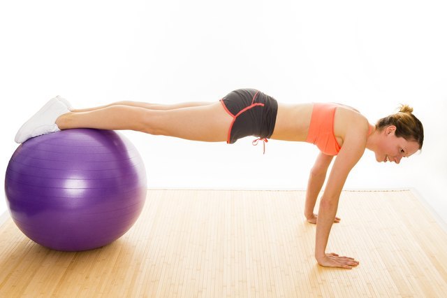 Use a stability ball to amp up your push-ups.