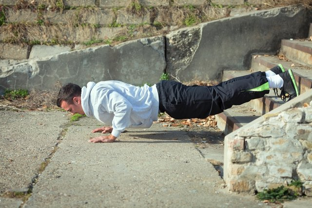 Add variety to the push-up with a decline.