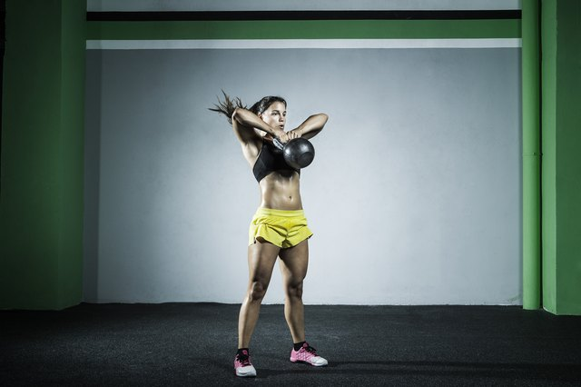 Kettlebells provide a break from the monotony of dumbbells.