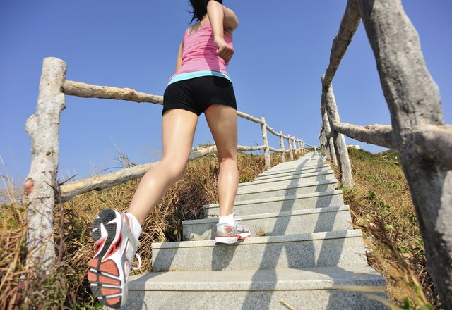 Incorporate stairs into your exercise.