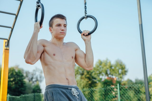 Ring pull-ups allow your wrists to rotate, taking pressure off your elbows.