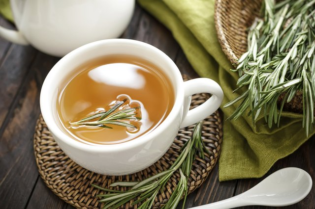 cup of rosemary tea