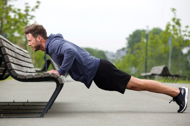 Incline push-ups are a great way to build strength until you can do full push-ups.