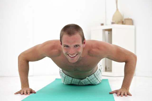 Your body acts as the resistance in a push-up.