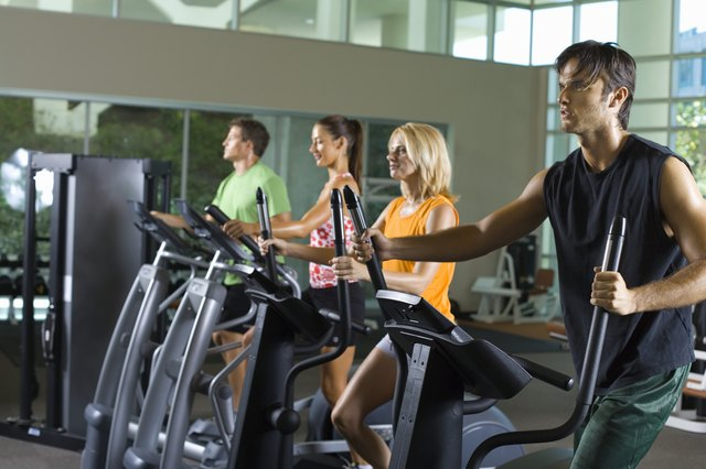 You can burn up to 400 calories in just 30 minutes exercising on an elliptical machine.