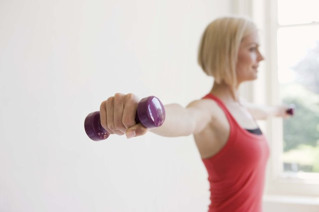 Lifting lighter weights often means you're able to perform more repetitions for each exercise you complete.