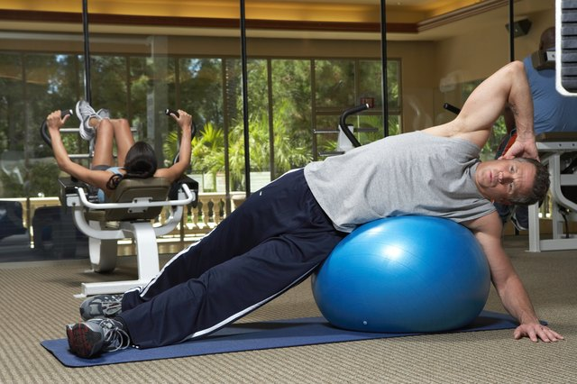 Burn calories during a stability ball workout.