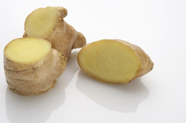 Ginger pieces.