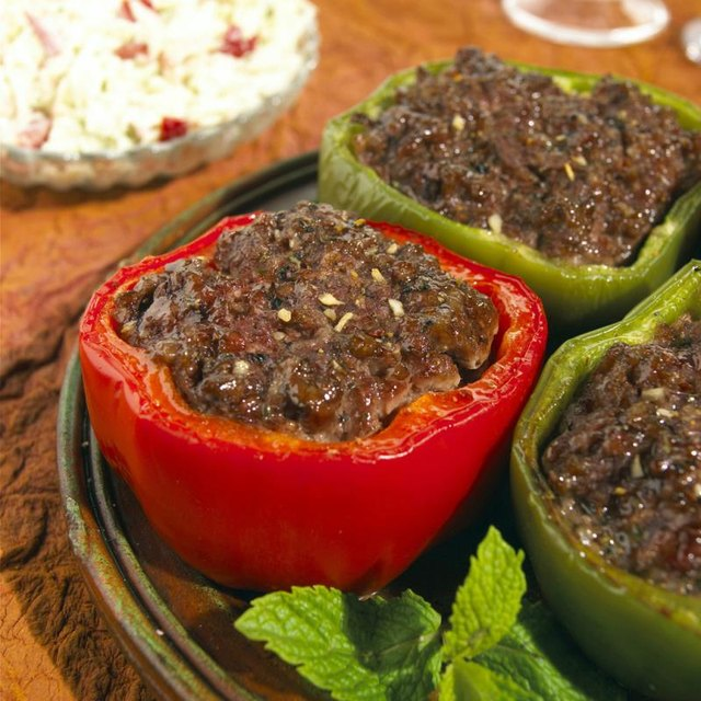 Low-Carb Stuffed Bell Pepper