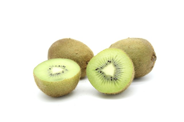 Kiwi fruit are high in Vitamin C.