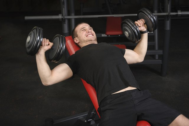 You can replace the regular bench press with a dumbbell bench press.