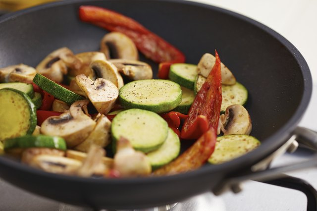 grilled vegetables on stovetop