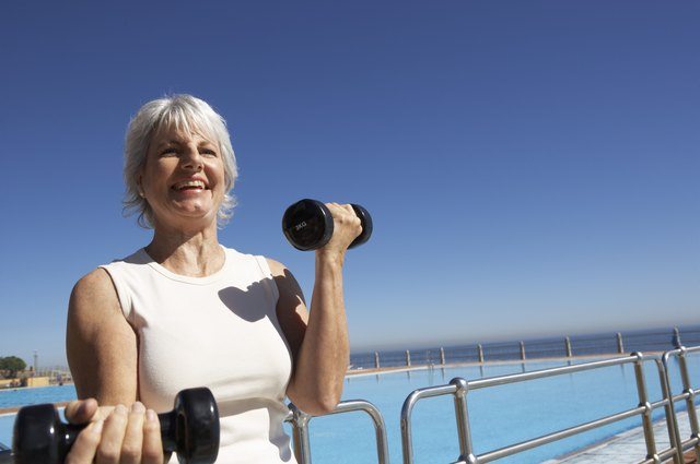 Weight training brings benefits to those who are over 70.