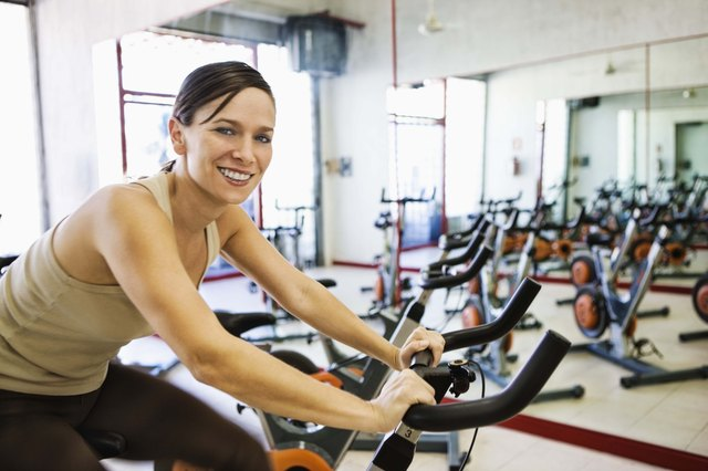 Participate in an aerobics class or use a cardio machine.