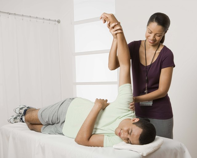 Physical therapists work to improve strength and flexibility.