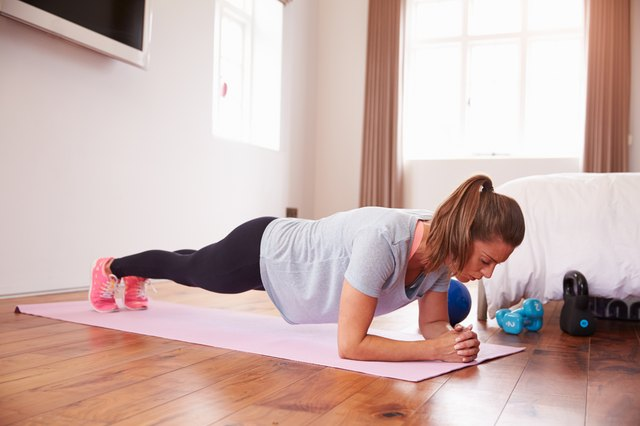 Instead of crunches, try doing planks during your ab routine.