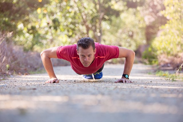 Push-ups give you a better total-body workout, but don't target the triceps as intensely as a dip.
