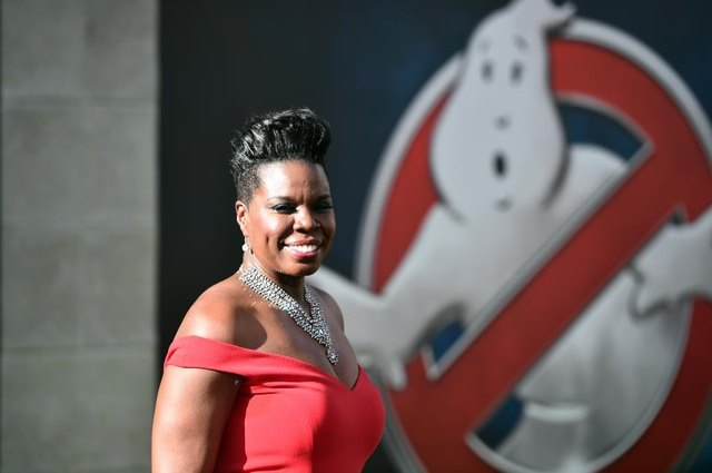 Actress Leslie Jones attends the premiere of Sony Pictures' 'Ghostbusters' on July 9, 2016, in Hollywood.