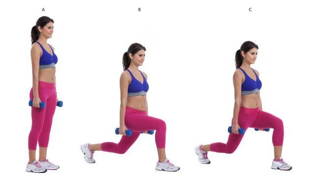 Keep your torso upright as you lunge.
