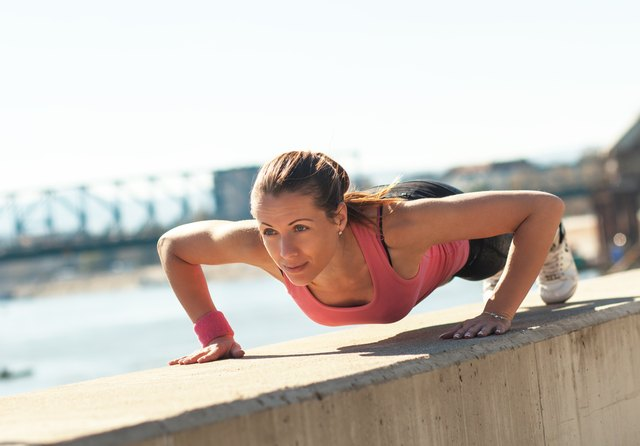Push-ups have positive effects, if not on your breast size.