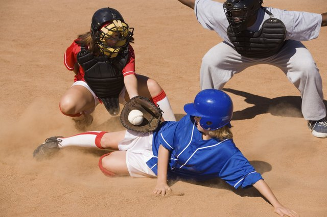 Softball requires sprinting off and on several times over short distances.