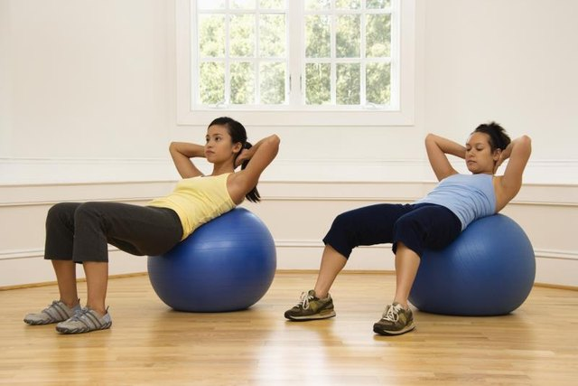 Use a stability ball while you do crunches for variety.
