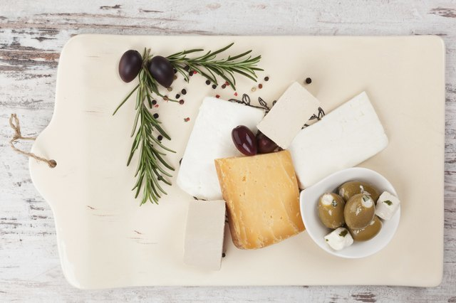 Opt for low-fat cheeses when you have the chance.