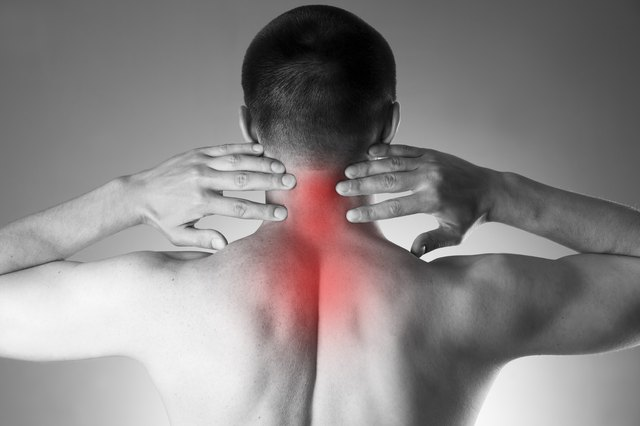 Neck pain when exercising could be caused by degenerative disc disease.