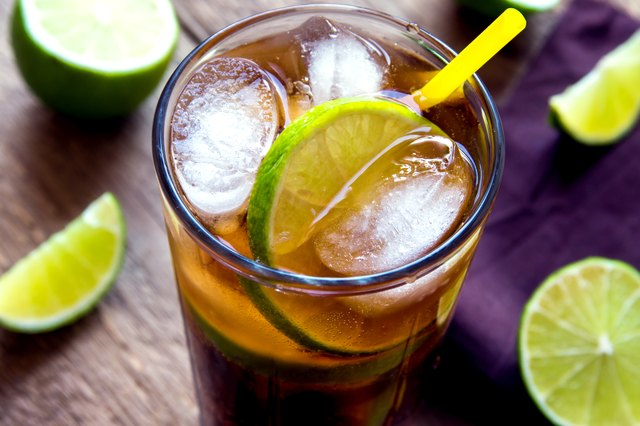 Rum and diet cola with limes. There is research that says diet drinks mixed with alcohol get drinkers more intoxicated than regular drinks.