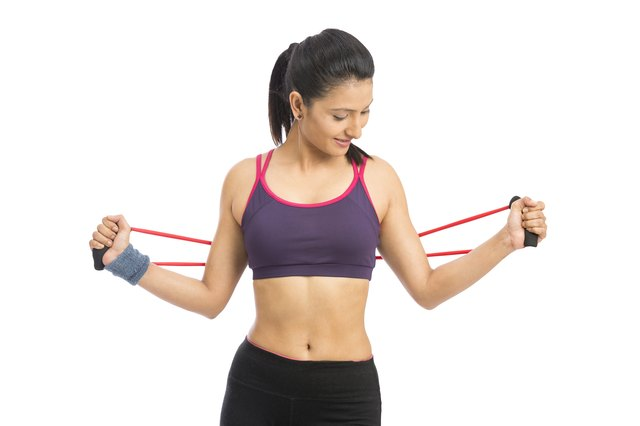 Exercise bands are available in many levels of resistance.