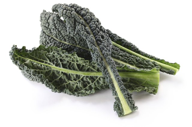 Kale is a green leafy vegetable.