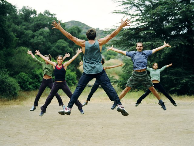 Boot camp exercises in Calabassas, CA.