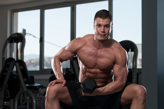 Concentration curls build strong biceps from your seat.