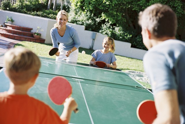 Table tennis can be a fun and easy way to burn calories.