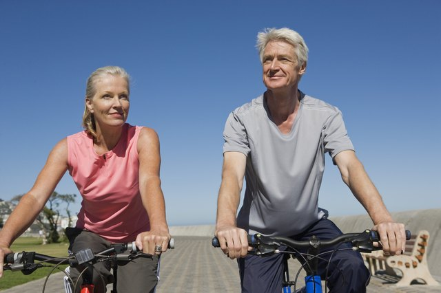 Riding a bicycle is a moderate intensity exercise anyone can do.