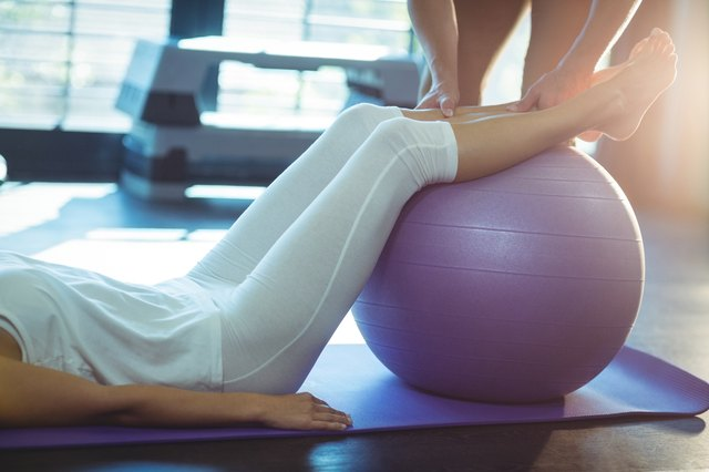Choose an exercise ball size based on your height.