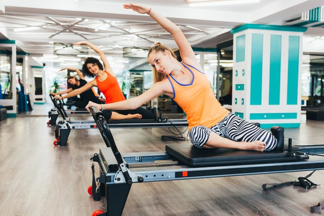 Pilates machines work the core and are available in compact home models.