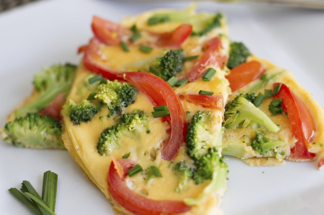 A vegetable omelet