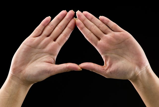 Your fingers form the triangle shape.