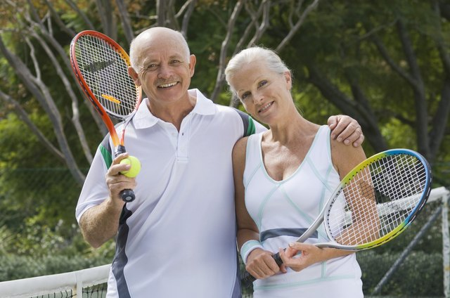 Tennis is a fun physical activity with a partner.