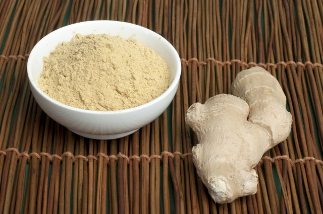 powdered ginger root in bowl