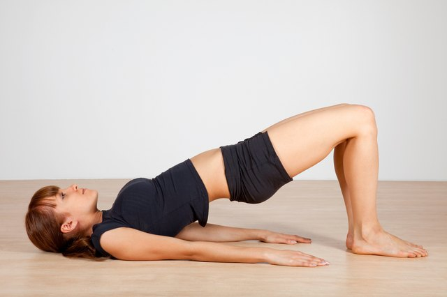Use bridge pose to help boost your energy.